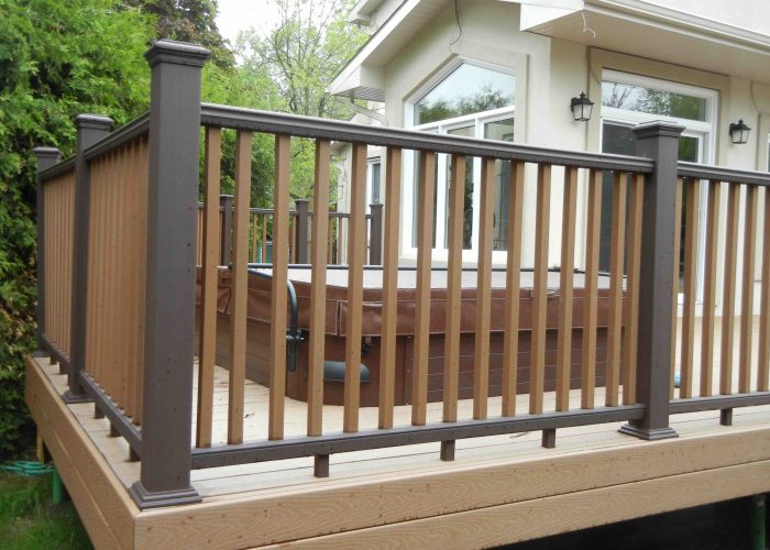 Trex decking ottawa with two tone trex railing