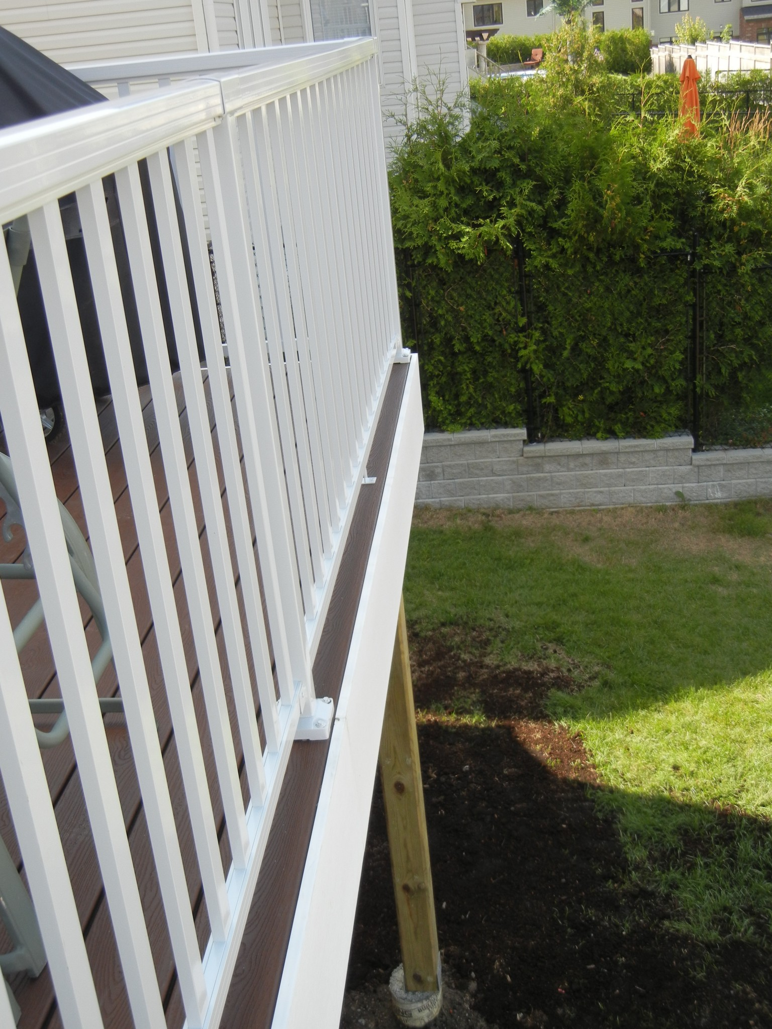 trex transends deck railing and patio install