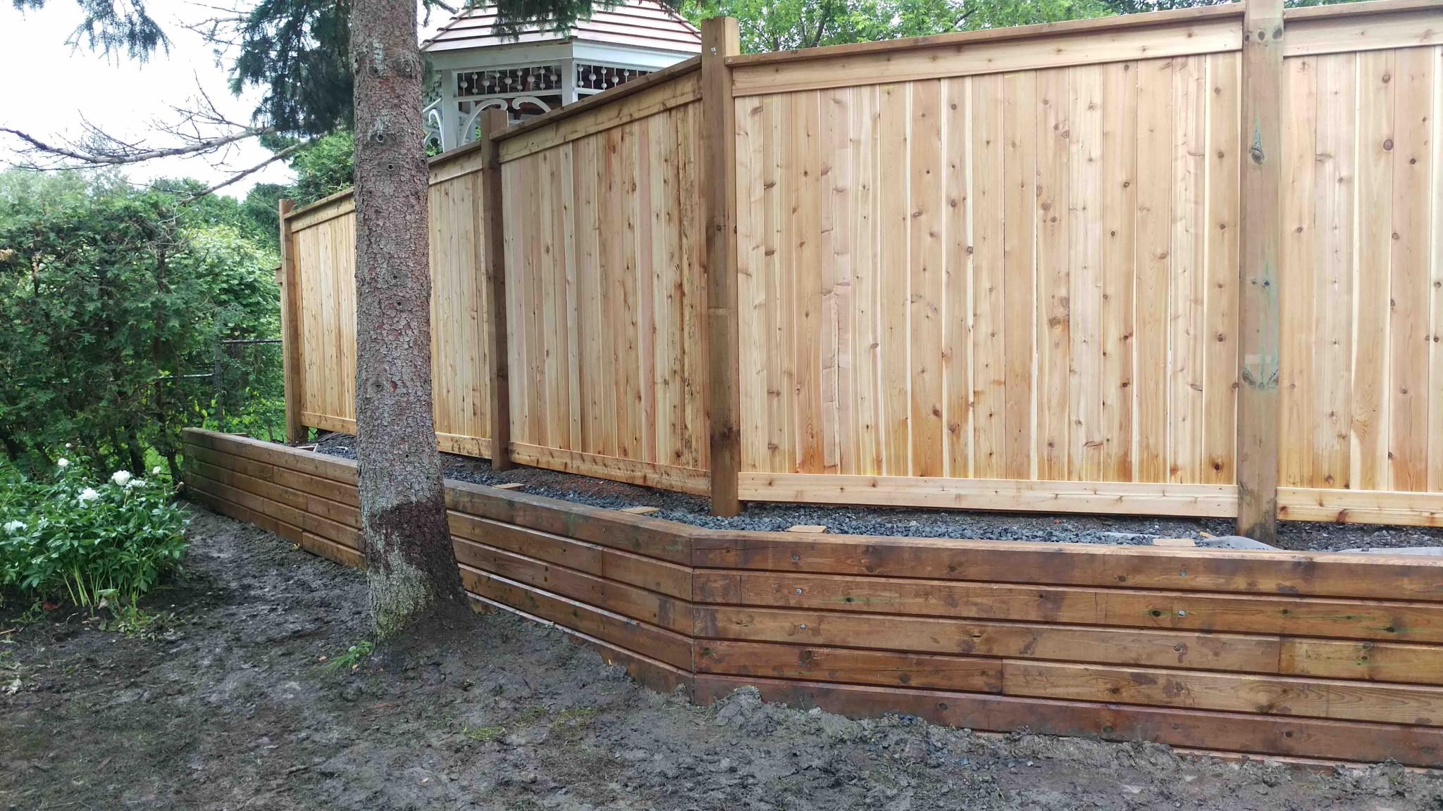 raised all wood ottawa fence