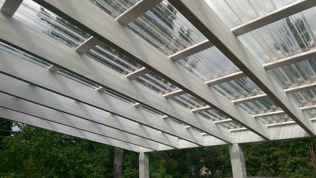 white all weather pergola or ottawa home